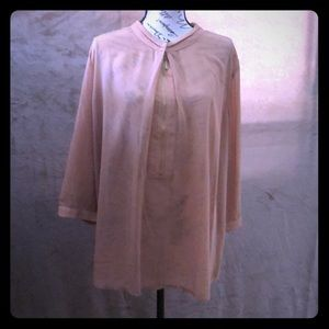 Tan colored long sleeved Blouse (New without tags)